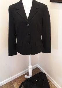 Worthington black striped stretch jacket size 14